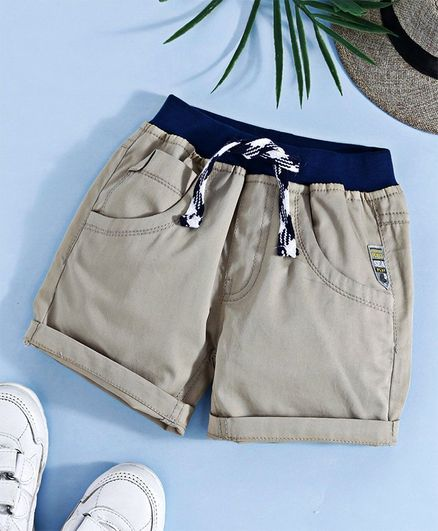 Little Kangaroos Shorts With Drawstrings - Fawn
