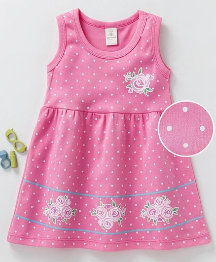 60b6bc0c444 Buy Baby Naturelle & Me Sleeveless Frock Floral Print Pink for Girls (2 ...