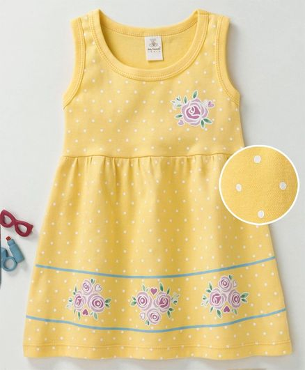 10d5c894f7d Buy Baby Naturelle & Me Sleeveless Frock Floral Print Yellow for Girls ...