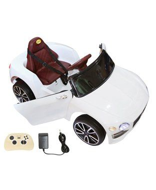 Wheel Power Baby Battery Operated Ride On Bentley Car - White