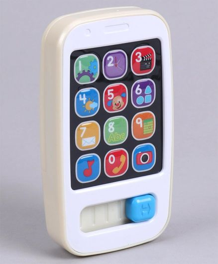 Fisher Price Kids Smart Phone - Cream
