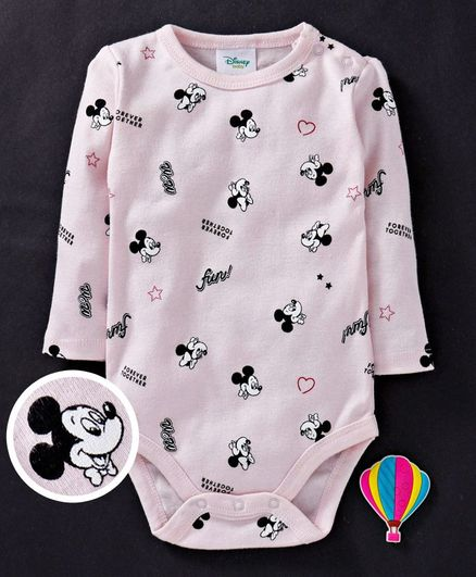 140187398 Buy Fox Baby Full Sleeves Onesies Mickey Mouse Print Light Pink for ...