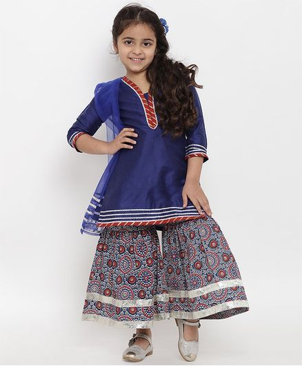f14f85f82 Buy Bitiya By Bhama Design Printed Three Fourth Sleeves Kurta With ...