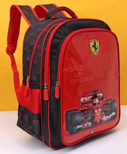 Ferrari World Of Dreams School Bag Red - 16 Inches