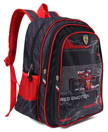 Ferrari Red Motion School Bag Red & Black - 14 Inches