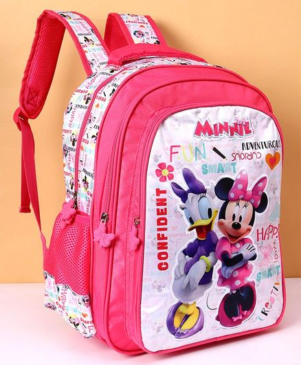 fba00e197828 Disney Minnie Mouse School Bag Pink Height 16 Inches Online in ...