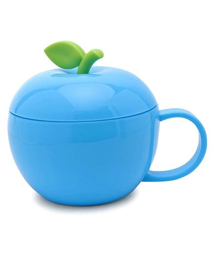 Apple Shaped Cup  With Lid Sky Blue - 380 ml