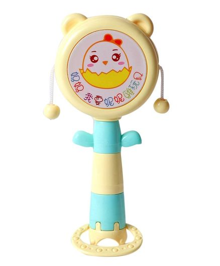 Baby Rattle Drum Spin Toy - Cream