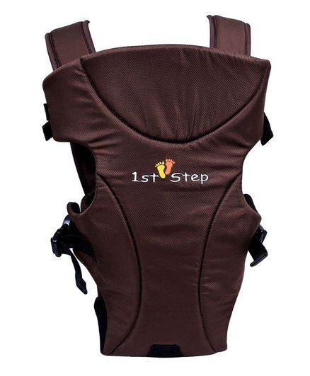 1st Step Adjustable 3 Way Baby Carrier With Comfortable Grip And Breathable Fabric - Brown
