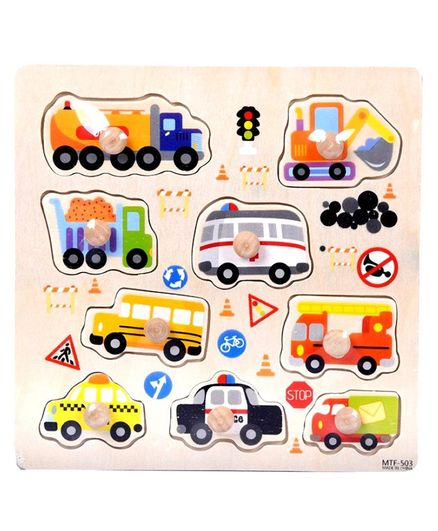 Vibgyor Vibes Wooden Knob & Peg Vehicle Theme Puzzle 9 Pieces Online India,  Buy Puzzle Games & Toys for (4-8 Years) at FirstCry com - 2581490