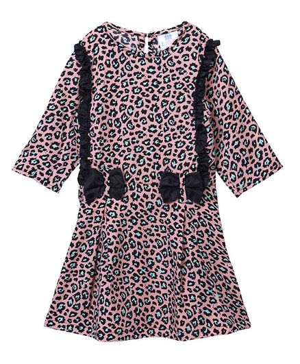 822a83ed5ae34 Buy Lilpicks Couture Full Sleeves Leopard Print Dress Pink for Girls (2-3  Years) Online in India, Shop at FirstCry.com - 2582378