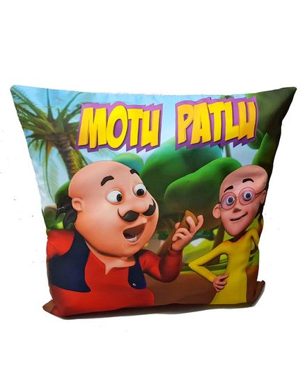Sassoon Motu Patlu Cushion Cover - Multi