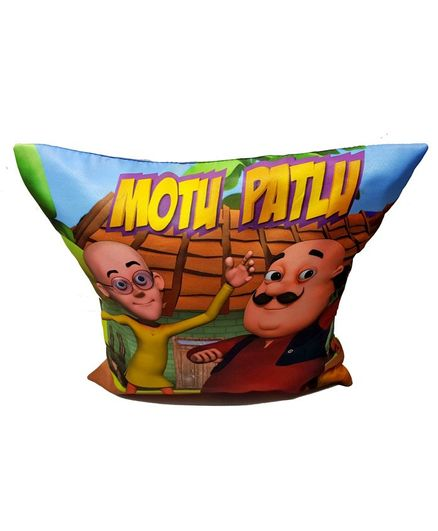Sassoon Motu Patlu Cushion Cover - Multicolor