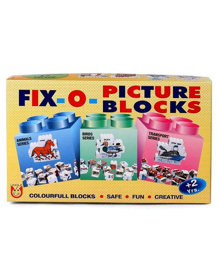 Unique Fix O Picture Blocks - Multicolour