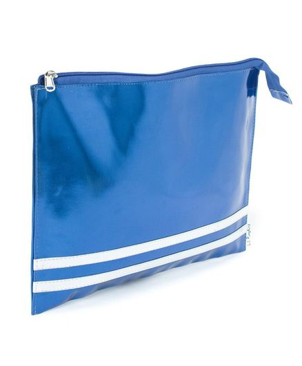 Rv Praman Mettalic Leatherette Zip Folder Blue for Girls (10-14 Years)  Online in India, Buy at FirstCry com - 2591750