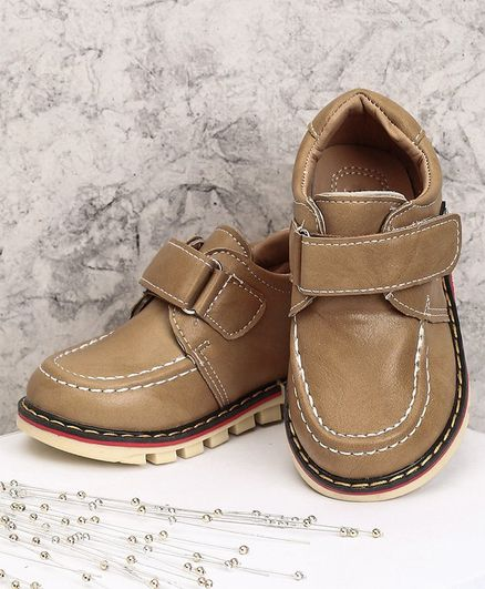44824a0cf2c5 Buy Cute Walk by Babyhug Party Wear Shoes Light Brown for Boys (2 ...