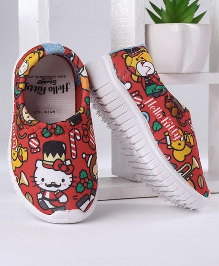 Hello Kitty Canvas Shoes - Red