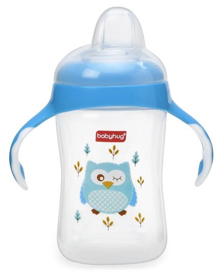 Babyhug Silicone Soft Spout Sipper With Handle Blue - 300 ml