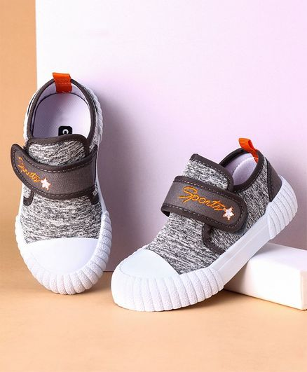 Cute Walk by Babyhug Canvas Shoes - Grey