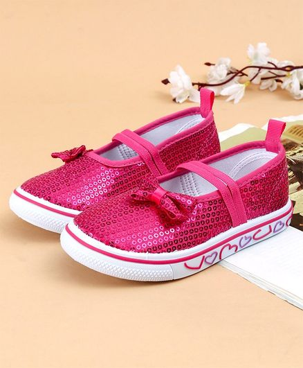 582a82551a Buy Cute Walk by Babyhug Casual Shoes Sequin Detailing Pink for Girls (3-4  Years) Online, Shop at FirstCry.com - 2602533