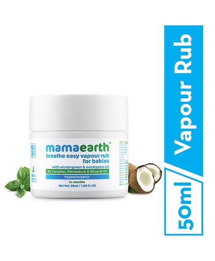 mamaearth Natural Breathe Easy Vapour Rub Balm - 50 ml