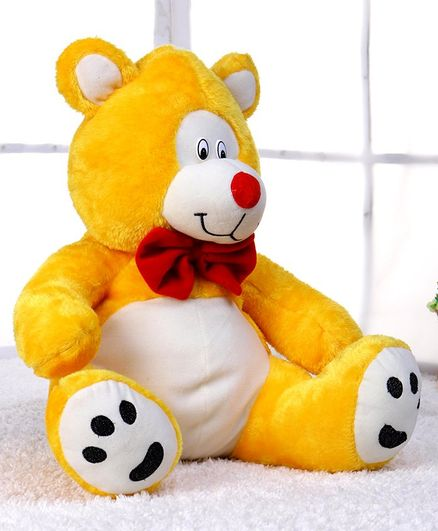 Play Toons Papa Bear Soft Toy Yellow - Height 30 cm