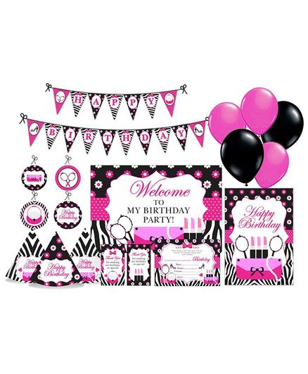 Prettyurparty Glam Diva Party Decorations Package - Pink