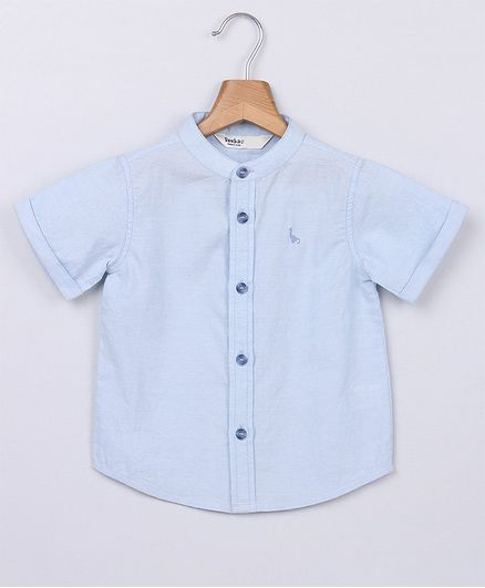 18f319b733d Buy Beebay Solid Half Sleeves Shirt Blue for Boys (1-2 Years) Online ...