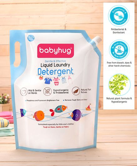 Babyhug Liquid Laundry Detergent Refill Pack - 1500 ml
