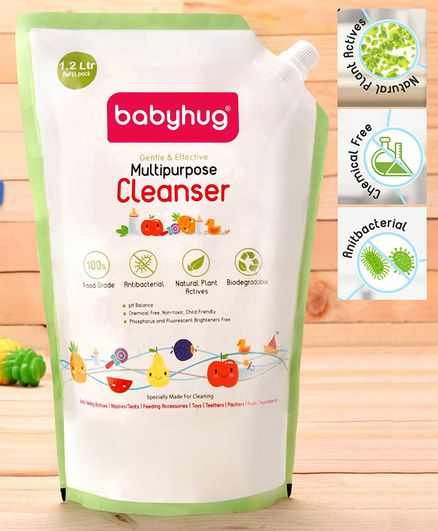 Babyhug Feeding Bottle Accessories & Vegetables Liquid Cleanser Refill Pack - 1200 ml