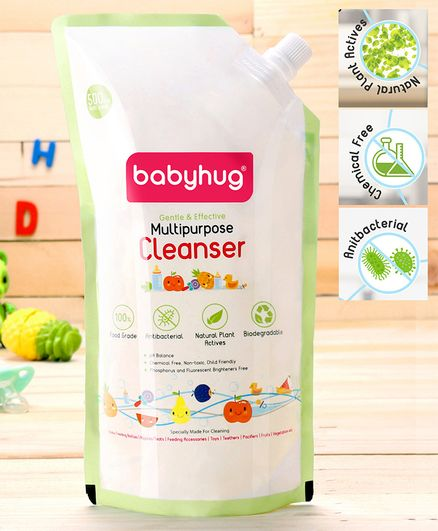 Babyhug Feeding Bottle Accessories & Vegetables Liquid Cleanser Refill Pack - 500 ml