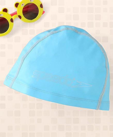 Speedo Silicone Moulded Junior Swim Cap - Blue