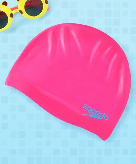 Speedo Silicone Moulded Junior Swim Cap - Pink