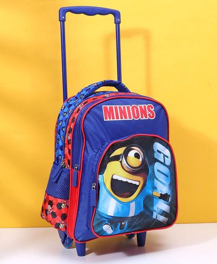 9603bf7d089 Minion Trolley School Bag Blue Height 14 inches Online in India