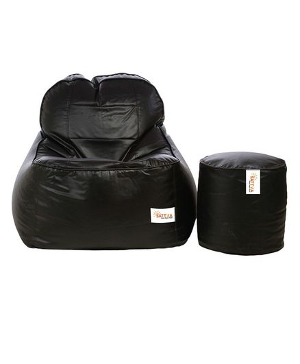 Marvelous Sattva Bean Bag Foot Stool Without Beans Combo Set Black Online In India Buy At Best Price From Firstcry Com 2625753 Gmtry Best Dining Table And Chair Ideas Images Gmtryco
