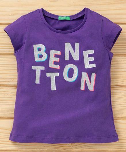 3f12da56 Buy UCB Short Sleeves Tee Benetton Print Lavender for Girls (12-24 ...