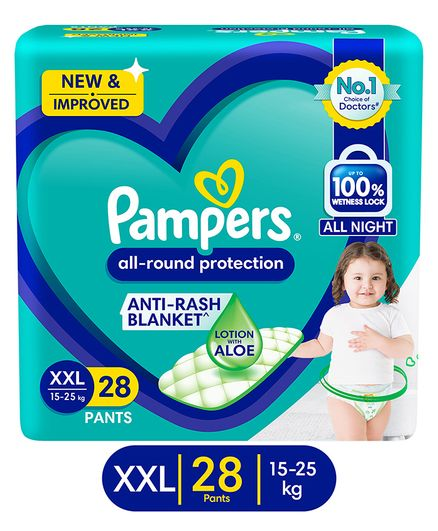 Pampers All-round Protection Pants, Double Extra Large size (XXL) 28 Count