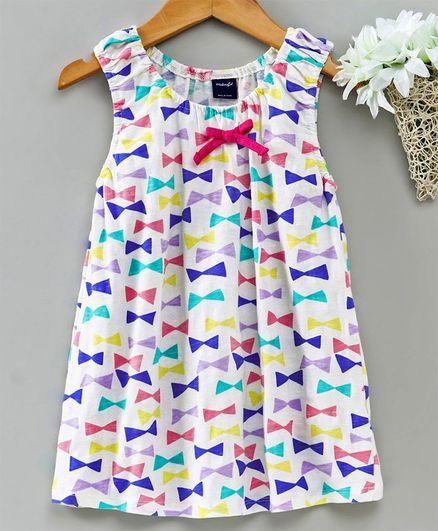 3851ad39ee1ea Buy Kookie Kids Sleeveless Frock Allover Print Multicolor for Girls (9 ...