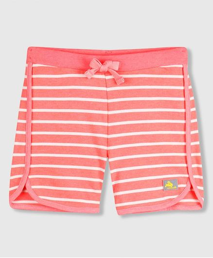 Cherry Crumble By Nitt Hyman Striped Shorts - Pink