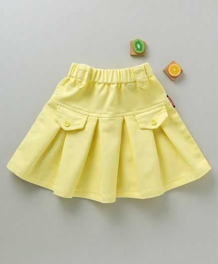 821bed7f69 Buy Olio Kids Solid Skirt Yellow for Girls (18-24 Months) Online in ...