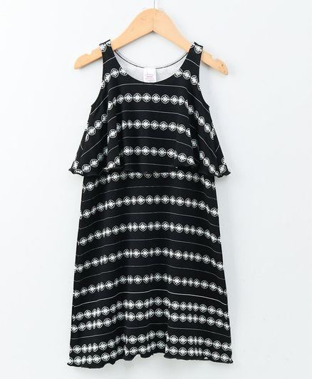 1c5add1e2c Buy Whaou Sleeveless Flower Print Cape Dress Black for Girls (2-3 Years)  Online in India, Shop at FirstCry.com - 2644408