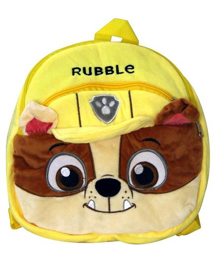 Paw Patrol Rubble Soft Toy Bag Yellow - 10 Inches