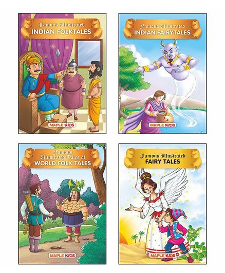 Folk Tales Story Books Pack of 4 English Online in India, Buy at Best Price  from Firstcry com - 2648088