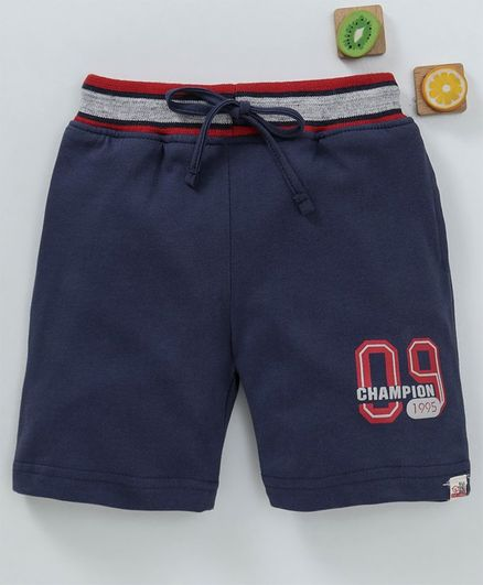 Olio Kids Shorts Number Patch - Navy Blue