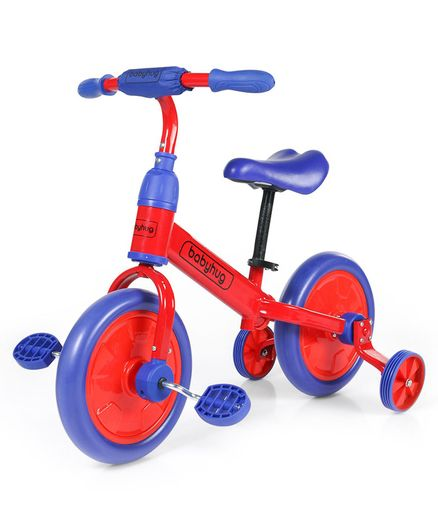 Babyhug Wanderer Self 4-1 Balance Bike Red Dark Blue - 12 inches