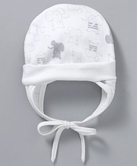 cf1c75f68 Ben Benny Cap With Ear Flaps & Knot White Online in India, Buy at Best  Price from Firstcry.com - 2654616