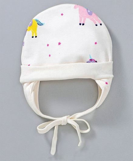 d241bd8f0 Ben Benny Cap With Ear Flaps & Knot White Online in India, Buy at Best  Price from Firstcry.com - 2654617
