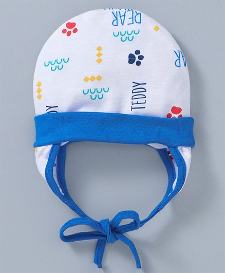 63229d0ea Ben Benny Cap With Ear Flaps & Knot White Blue Online in India, Buy at Best  Price from Firstcry.com - 2654641