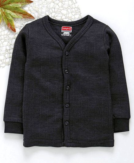 9b475b16129981 Buy Babyhug Front Open Thermal Vest Dark Grey for Both (2-3 Years ...