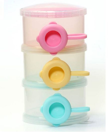 Rikang 3 Tier Baby Milk Container - Multicolour